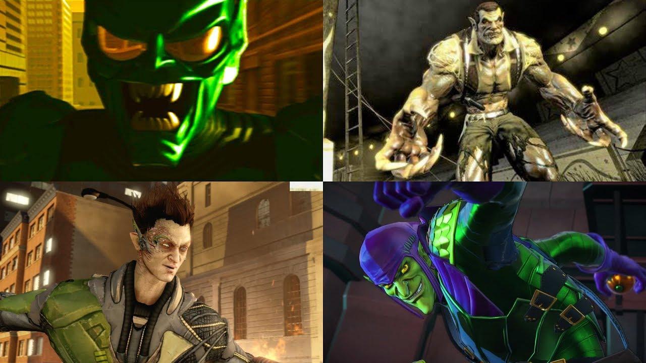 Green Goblin Boss Battles in Spider-Man Games (2002 - 2019 ...