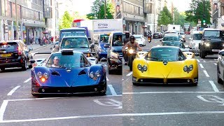 Guy brings out $6.5Million worth of Pagani Zondas into central London!