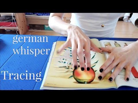 ASMR | ZEITUNG BLÄTTERN und Einschlafgeflüster ||  deutsch | german | TRACING