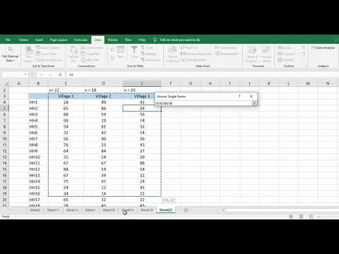 How To Run ANOVA In Microsoft Excel