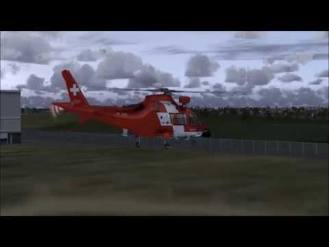 FSX - Nemeth Designs - AgustaWestland AW109 Rescue Rega - Test Flight HD