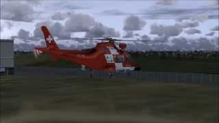 FSX - Nemeth Designs - AgustaWestland AW109 Rescue Rega - Test Flight HD