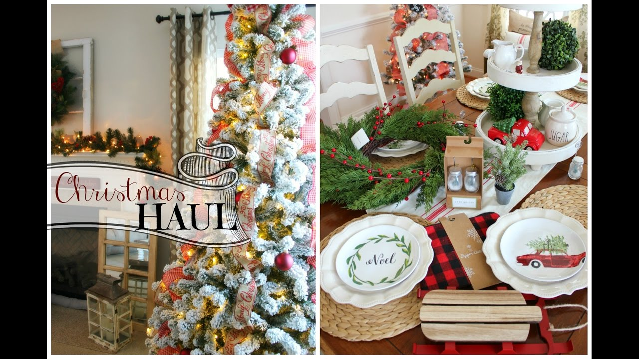 Christmas decor haul 2016 target dollar spot home goods new christmas tree youtube Target blue home decor