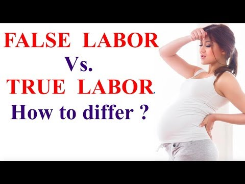 False labor pain and true labor pain || How to differentiate between false  and true labor pain