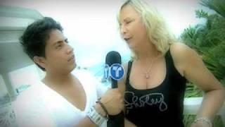 Download lagu Telemundo Ritmo Deportivo with co-host Rene Braga Shirely of Hollywood photo shoot