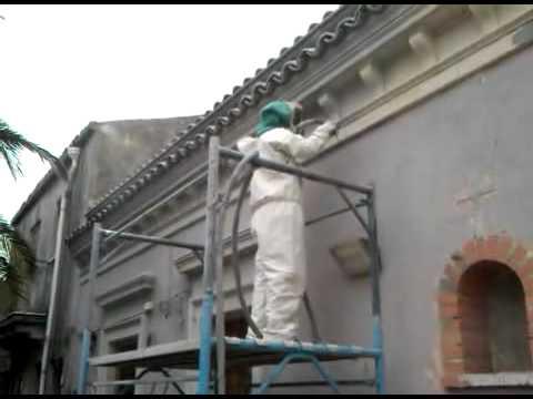 Restauro D Arte Monumentale Pulitura Pietra Bianca Mov Youtube