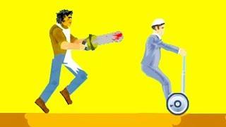 ЧУДОМ УСПЕЛ УЕХАТЬ ОТ БОЛЬНОГО С ПИЛОЙ! ПРОШЕЛ 100% НЕПРОХОДИМЫЙ УРОВЕНЬ В ХЭППИ ВИЛС (Happy Wheels)