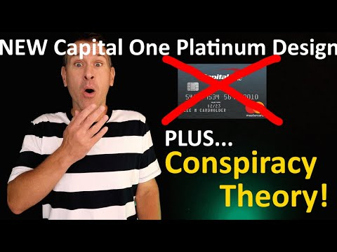 NEW Capital One Platinum Mastercard Credit Card Design (PLUS... A Conspiracy Theory!!!)