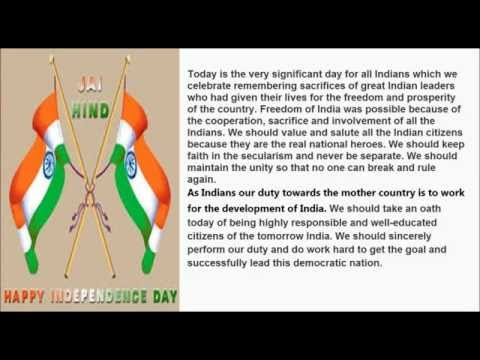 Independence Day Speech 2016 | Speech/Essay on 15th August for