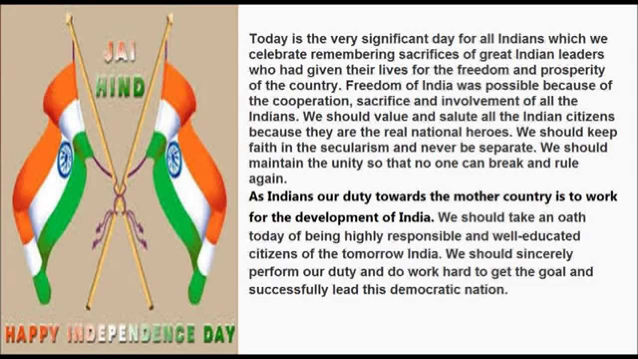 Independence Day Speech   Speechessay On Th August For  Independence Day Speech   Speechessay On Th August For School And  College Students  Youtube