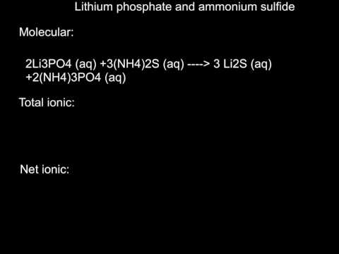 lithium phosphate and ammonium sulfide
