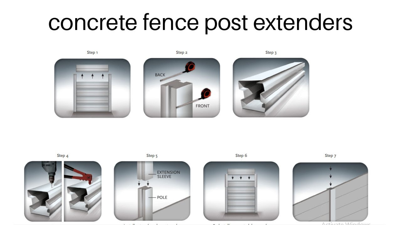 Concrete Fence Post Extenders Youtube