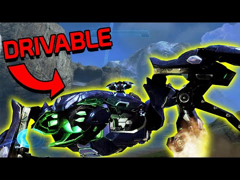 Halo Reach PC Mod - Driving A SCARAB On FORGE WORLD!