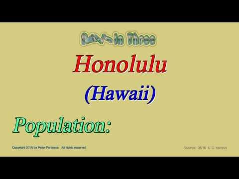 Honolulu Hawaii Population in 2010 - Digits in Three