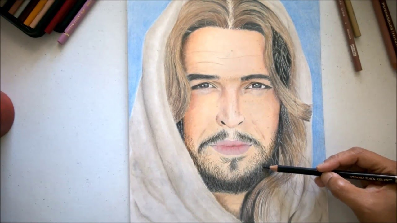 drawing son of god actor as jesus christ youtube