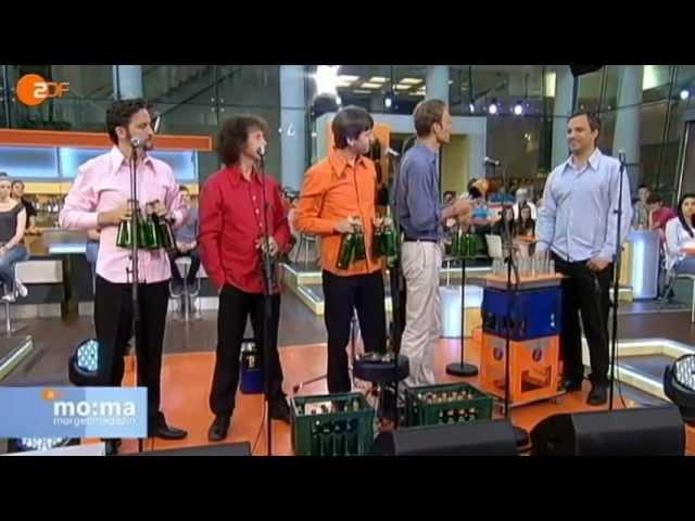 Das GlasBlasSing Quintett - Türkischer Marsch (Rondo alla turca) Bottle music