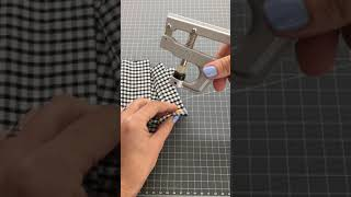 how to install plastic poppers, snap fasteners