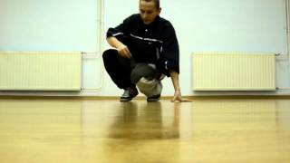 footwork combo 3 tutorial BREAK DANCE Jump Step Crew Dance Academy