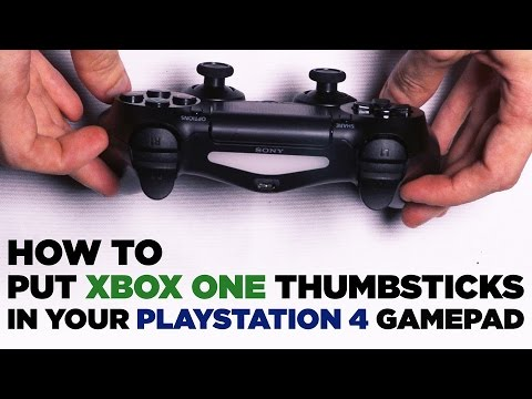 How to Put Xbox One Thumbsticks in Your PS4 Controller