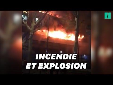 Un Incendie Détruit Un Immeuble Dans Le 19ème Arrondissement De Paris