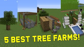 5 Best Tree/ Log Farms [Easy to Automatic] - Minecraft 1.16+ | Best Easy Minecraft Farms