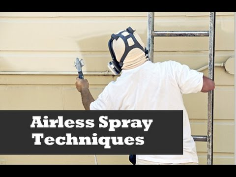 Spray Techniques Using An Airless Sprayer. Home Improvement Painting