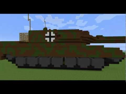 Minecraft Leopard 2 Tank + TNT Cannon + Download