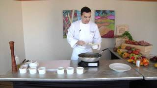 Chef Andreas Nieto Prepares His Recipe For Corn And Crab Bisque