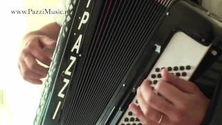 Italiaanse AccordeonMuziek Tarantella / I PAZZI Muziek Solo /Italian Music/ www.PazziMusic.nl/ video