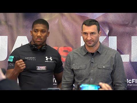 """Anthony Joshua vs. Wladimir Klitschko """"World Heavyweight Championship"""" NYC Media Day"""