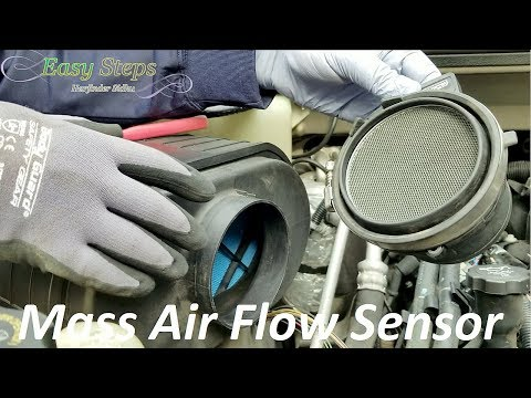 How To Clean | Replace Mass Air Flow Sensor on Hummer | Delphi AF10043 Mass Air Flow Sensor