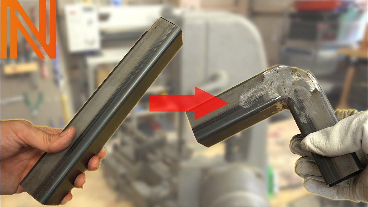 100V溶接機とバンドソーを使った角パイプの曲げ方!