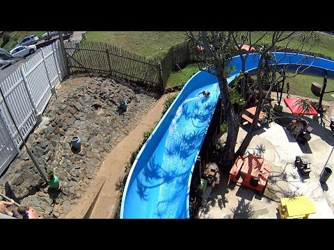 Super Fun Blue Water Slide at Splash Waterworld