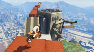 Flying Bike Stunt Parkour (GTA 5 Funny Moments)(GTA 5 Funny moments & GTA 5 Online Games are here! In today's GTA 5 games we perform GTA 5 Online stunts in GTA 5! If you want to see more of us then ..., 2014-11-30T20:00:03.000Z)