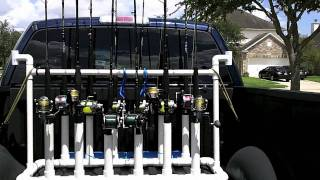 Pickup Truck Fishing Rod & Reel Rack/carrier