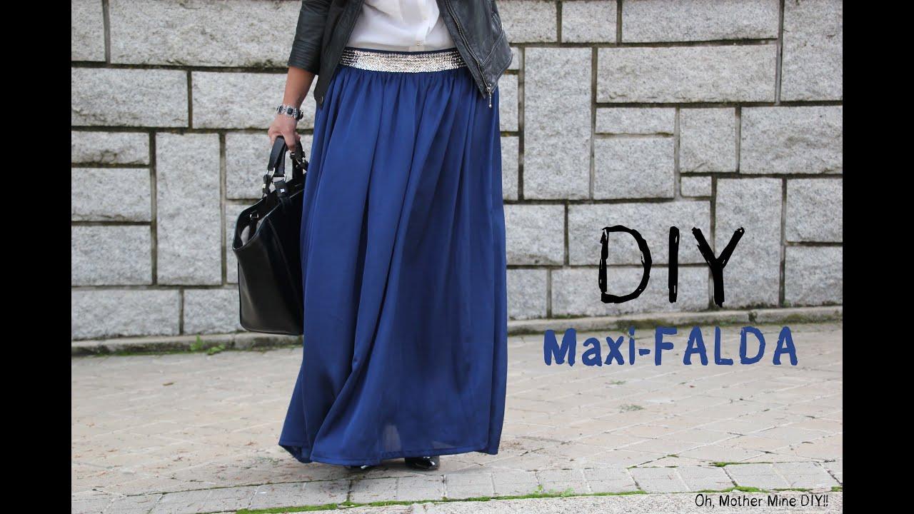 bc200b813 DIY Costura cómo hacer una falda larga (maxi-falda)