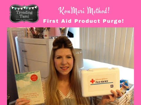 KonMari Method Declutter - First Aid Product Purge - Hoarder to Minimalist