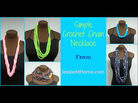 Simple Chain Stitch Necklace ~ Free Crochet Pattern