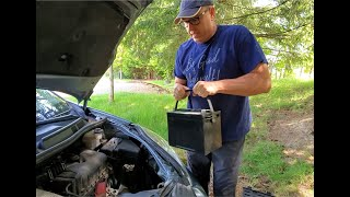 How to swap out a car battery.