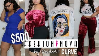 $500 FASHION NOVA CURVE TRY ON HAUL !! IS IT WORTH IT !?