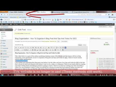 Search Engine Optimization Techniques PDF Webpage Video 1 Part 2