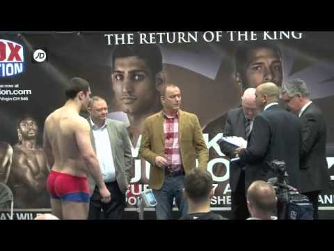 Thumbnail: DAVID ALLEN v DEYAN MIHAILOV - OFFICIAL WEIGH IN / iFILM LONDON / THE RETURN OF THE KING