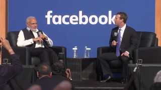 Townhall Q&A with PM Modi and Mark Zuckerberg at Facebook HQ in San Jose, California