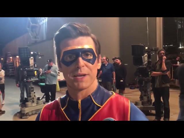 Day on Henry Danger set with Captain Man   Jace Norman Vlog