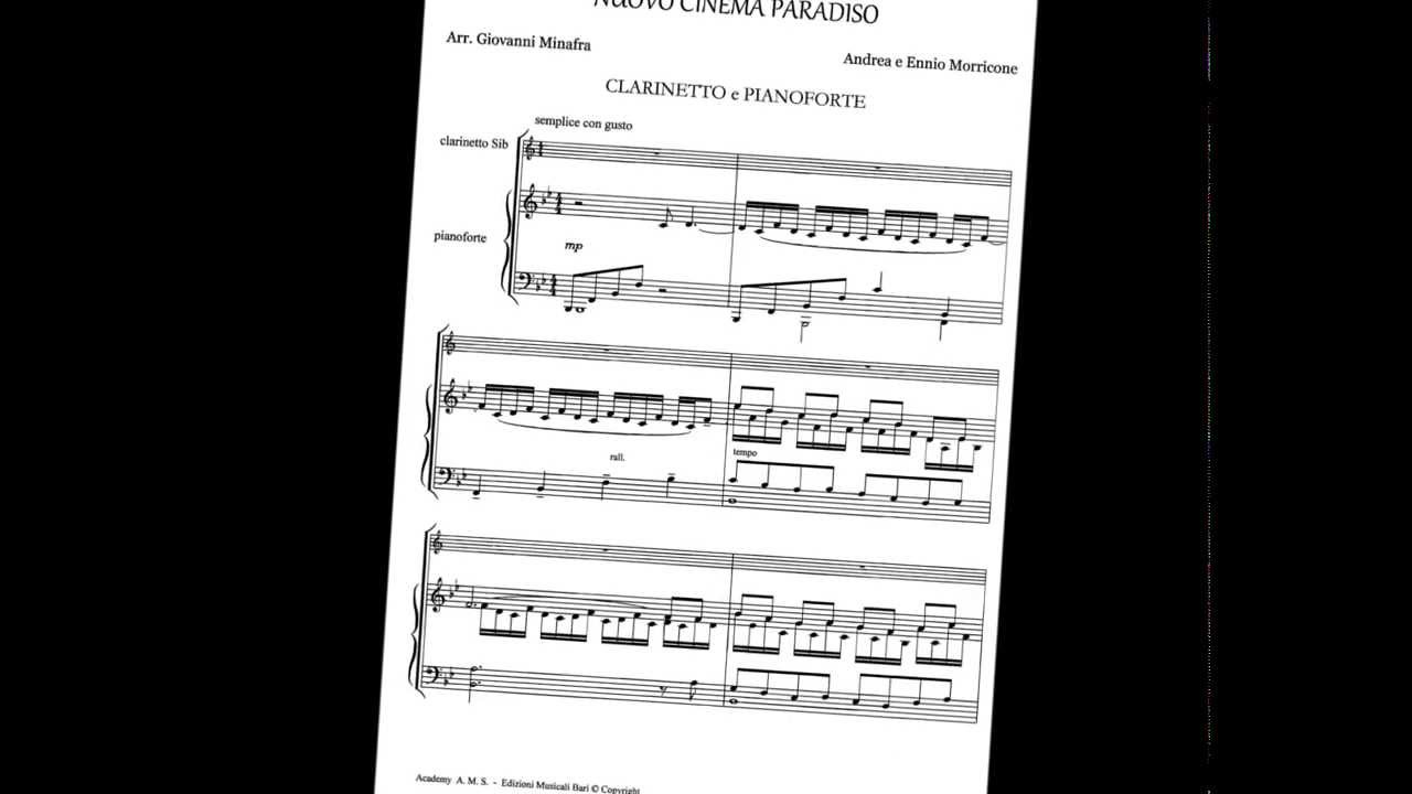 Amato Spartiti per clarinetto e pianoforte in PDF - YouTube UR95