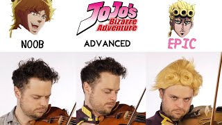 Download lagu 5 Levels of Giorno's Theme: Noob to Epic