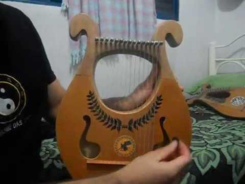 Lira Grega 15 cordas MiniHarpa  YouTube