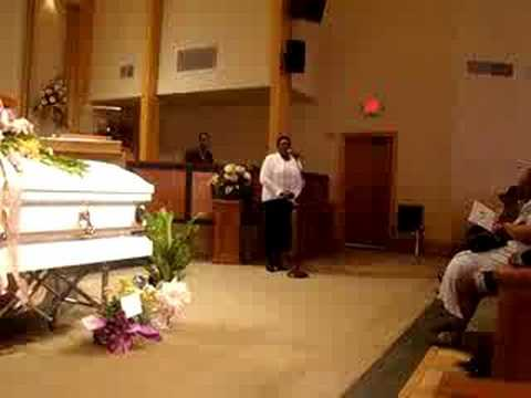 GiGi singing @ Aunt Mary's Funeral