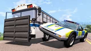 Crazy Police Chases #83 - BeamNG Drive Crashes
