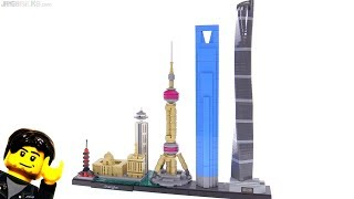 LEGO Architecture Shanghai skyline set review 21039